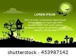 landscape halloween background... | Shutterstock .eps vector #453987142