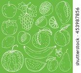 set of fresh healthy hand...   Shutterstock .eps vector #453987856