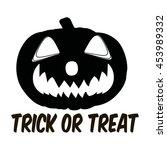 trick or treat. halloween... | Shutterstock .eps vector #453989332