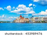 panorama with building of... | Shutterstock . vector #453989476
