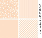 set of nine vintage cute vector ... | Shutterstock .eps vector #453990346