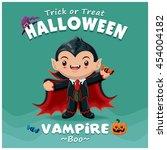 vintage halloween poster design ... | Shutterstock .eps vector #454004182