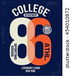 college new york typography  t... | Shutterstock .eps vector #454010872
