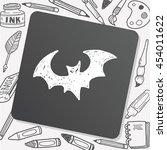 bat doodle | Shutterstock .eps vector #454011622