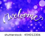 welcome   hand lettering....   Shutterstock .eps vector #454012306