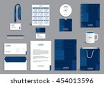 business stationery set... | Shutterstock .eps vector #454013596