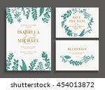 vintage wedding set with... | Shutterstock .eps vector #454013872