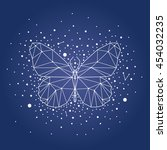 butterfly constellation | Shutterstock .eps vector #454032235