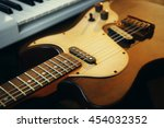 electric guitar closeup | Shutterstock . vector #454032352