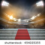 stage lighting background  3d... | Shutterstock . vector #454035355