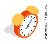 alarm clock icon in isometric... | Shutterstock . vector #454053442