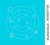 data analytics concept... | Shutterstock .eps vector #454057765