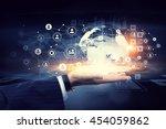 social networking scheme .... | Shutterstock . vector #454059862