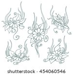 vector hand drawn sketch... | Shutterstock .eps vector #454060546
