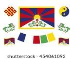 tibetan flag and symbols....