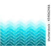 blue waves sea ocean vector...   Shutterstock .eps vector #454062466