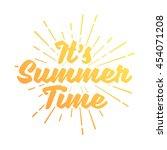 summer vector illustration... | Shutterstock .eps vector #454071208