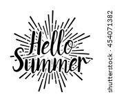 summer vector illustration... | Shutterstock .eps vector #454071382