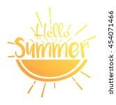 summer vector illustration... | Shutterstock .eps vector #454071466