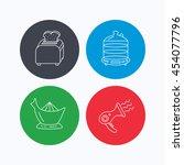 steamer  hairdryer and toaster... | Shutterstock .eps vector #454077796