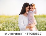 happiness and tenderness of... | Shutterstock . vector #454080832
