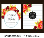 romantic invitation. wedding ...   Shutterstock . vector #454088512