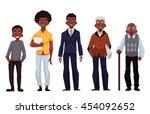 set of black men of different... | Shutterstock .eps vector #454092652