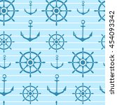 seamless vector pattern with... | Shutterstock .eps vector #454093342