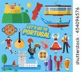 flat design  portuguese... | Shutterstock .eps vector #454096576