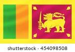 sri lanka flag   3d... | Shutterstock . vector #454098508