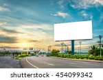 billboard blank for outdoor... | Shutterstock . vector #454099342