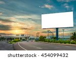 billboard blank for outdoor... | Shutterstock . vector #454099432