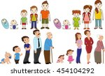 big family set  from baby to... | Shutterstock .eps vector #454104292