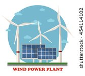 Wind And Solar Power Plants...