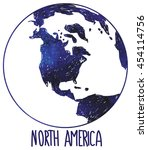 north america. earth and... | Shutterstock .eps vector #454114756
