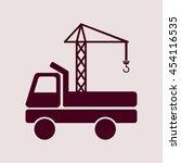 purple icon of crane truck. eps ... | Shutterstock .eps vector #454116535