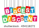 vector colorful hanging... | Shutterstock .eps vector #454118272