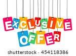 vector colorful hanging... | Shutterstock .eps vector #454118386