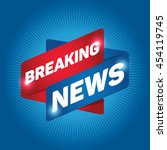 breaking news arrow tag sign... | Shutterstock .eps vector #454119745