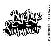 bye bye summer  isolated... | Shutterstock .eps vector #454131382