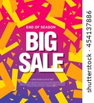 big sale banner template design | Shutterstock .eps vector #454137886