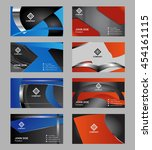 premium business card design... | Shutterstock .eps vector #454161115