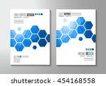 brochure template  flyer design ... | Shutterstock . vector #454168558