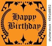 happy birth day card vector | Shutterstock .eps vector #454168852