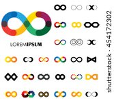 collection of infinity symbols  ... | Shutterstock .eps vector #454172302