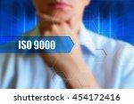 iso 9000 title frame.... | Shutterstock . vector #454172416