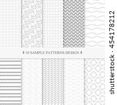patterns collection sample...   Shutterstock .eps vector #454178212