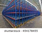 distribution center warehouse...   Shutterstock . vector #454178455