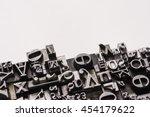 historical letterpress types ... | Shutterstock . vector #454179622