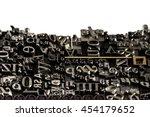 historical letterpress types ... | Shutterstock . vector #454179652